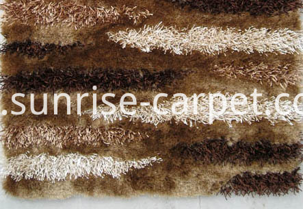 Silk & Viscose Shaggy with Design Rug