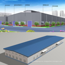 Edificio de construcción estructural de acero ligero