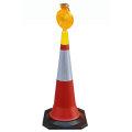 Luz de advertência do diodo emissor de luz do poder solar para o cone de tráfego