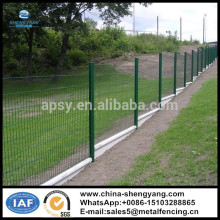 2m*1.5m welded wire fence panels with PVC coated and peach post