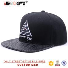Cap seis chapéu de painel, chapéu e tampa com 6 painéis planos e 6 tampas de painel snapback