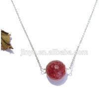 Fashion Large Natural Gemstone Costume Necklace