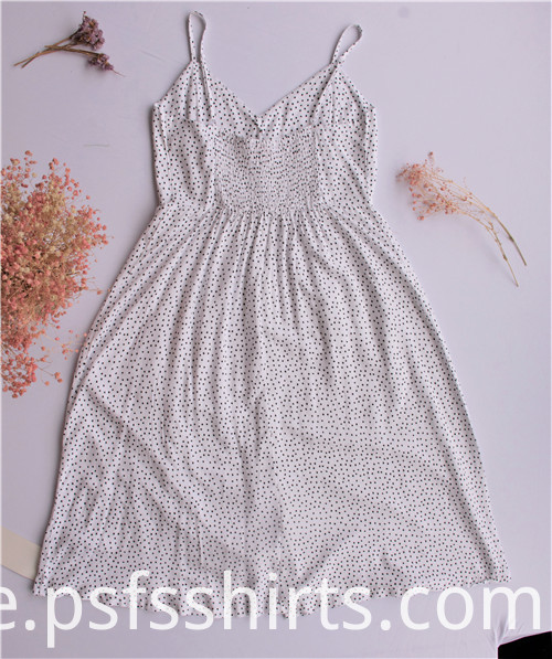Women Dot Strapless Sundress
