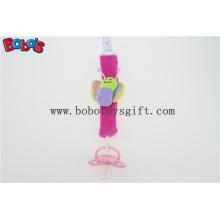 Hot Pink Borboleta Plush bebê pacifier titular personalizado pacifier titular Bosw1054