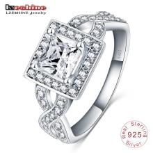 Hearts&Arrow Zircon Solid 925 Sterling Silver Ring (SRI0007-B)