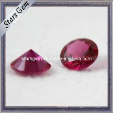 Круглая форма 5 # Ruby Gemstone