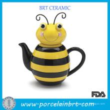 Tetera brillante con diseño especial de abeja