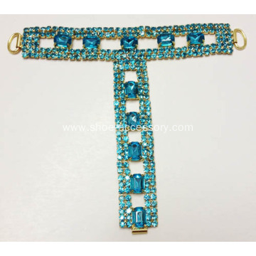 Pers Stone and Rhinestone Sandal Trim