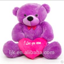 Maßgeschneiderte Plüschtiere benutzerdefinierte gefüllte Tiere Teddybär lila