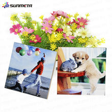 Sunmeta factory wholesale supply high quality white coated ceramic tiles for sublimation printing