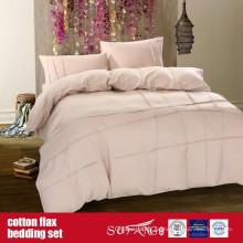 Juego de sábanas de lino de algodón para el uso de hotel de lujo en el hogar