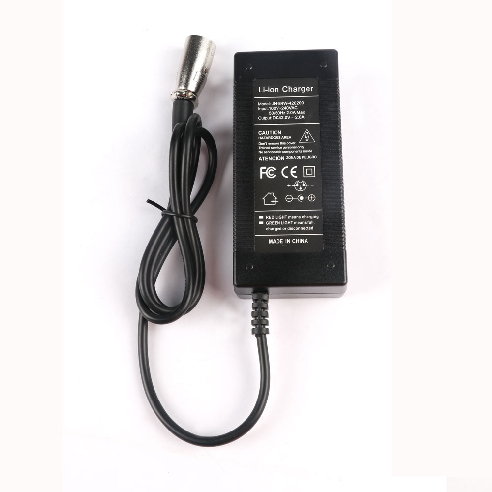 42V2A 3 Pins Li-ion Scooter Charger