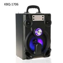 2018 New design big capacity battery powered karaoke wooden bluetooth speaker for mobile phones, Tablet PC , computer