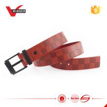 2015 fashion pu belt with black alloy buckle