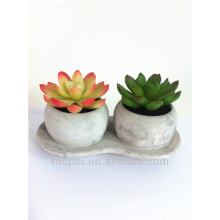 Mini lifelike artificial bonsai plant of ceramic pot with happy price