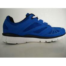 Zapatos de ocio azul de malla transpirable para hombres