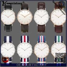 Yxl-365 New Style Fashion Watch Quartz Nylon Wrist Watch Mens Ladies Sport Vogue Casual Leather Watches