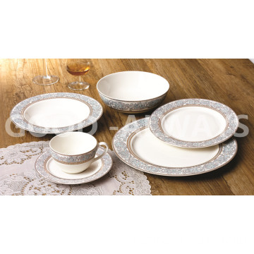 Set di 6 pezzi in oro Set New Bone China
