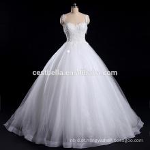 2016 vestido de noiva vestido de casamento nupcial com cintura de espaguete Sweetheart decote