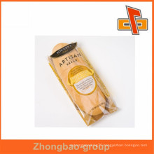 recyclable pouches!! custom printed kraft paper bag with one side window for bread packing