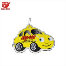 Désodorisants d'air de voiture en papier promotionnels en forme de voiture