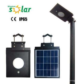 5W led lampe solaire, conduit réverbère solaire avec mouvement PIR Sensor, lampe led solaire extérieure