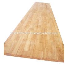 Panneau en bois en caoutchouc / comptoir / dessus de table