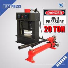 Placas de calefacción duales HP3809-R Prensa hidráulica de resina de 20 toneladas