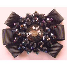 Femmes Black Camellia Flower Shoe Clips Fashion Ornaments