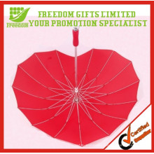 Promotional Customized Logo Printed Heart Shape Umbrella