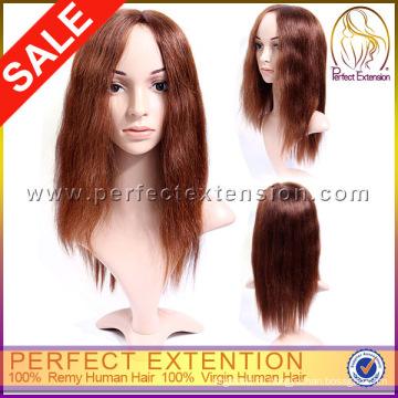 PayPal Оптовая девственных Реми клей монгольский человеческих волос парик Топпер