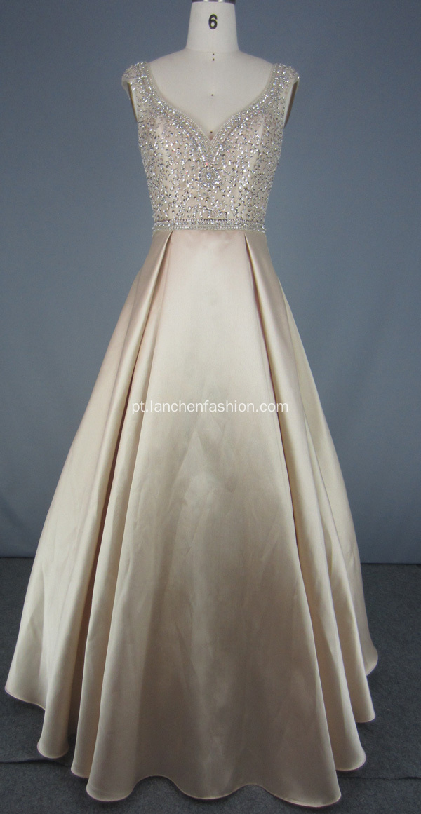 Vintage Evening Party Wedding Long Prom Dress
