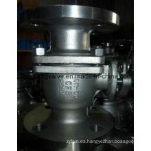 Válvula de bola de extremo de brida de 10k con acero inoxidable