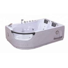 Homeused 1.2m Corner Acrylic Whirlpool Jetted Glass Massage