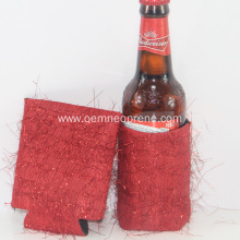 Red Glitter Neoprene Can Cooler Sleeve