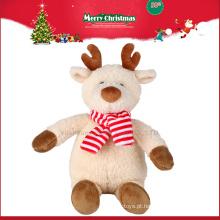 2016 brinquedos de pelúcia animais de rena de Natal com chifres
