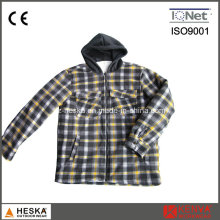 New Style Winter Long Sleeve Plaid Hooded Shirt