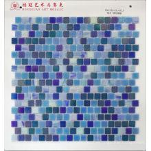 Mosaico de vidrio Iridium Blue Mixture