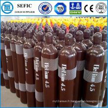 Cylindre réutilisable à haute pression d'hélium de l'acier 40L sans couture (ISO9809-3)