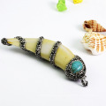 Wholesale Fashion Jewelry Natural Conch / Sea Snail Pendant with Crystal Rhinestone Paved