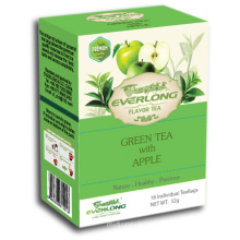 Apple Flavored Green Tea Pyramid Tea Bag Premium Blends Organic & EU Compliant (FTB1508)
