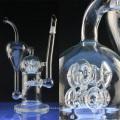 Большая встроенная стеклянная водопроводная трубка для курения с процентами (ES-GB-024)