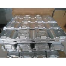 Pureté 98,7% -99,995% Lingot d'alliage de zinc Zamak 3 # Zamak 5 #