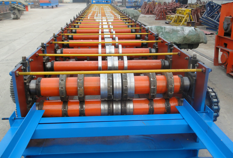 Steel Deck Tile Roll Forming Machine