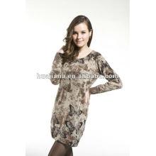 Vestidos de camisola feminina / 100% Cashmere knits