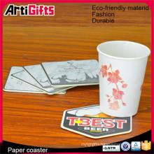 Free samples absorbent paper beer coasters for sale supplier beer