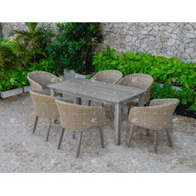 2017 Hot Outdoor Paito Garden Polyethylene Rattan Dining Set Wicker Furniture