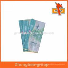 Eco-friendly lamiated personalizado Saco de papel de seda / saco de papel de arroz / bolsa de chá lateral gusset