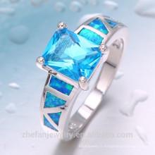 2018 Fashion 925 bague en argent avec pierre bleue design parfait bague de bijoux
