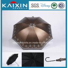 Мода деревянная ручка Прямо Солнце Umbrella